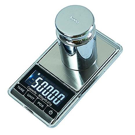 Joyería Dongjinrui escala 0,01g/500g de precisión Báscula Electrónica portátil LCD digital de bolsillo básculas de Joyería Peso Balanza Cocina Gram Escala, ...
