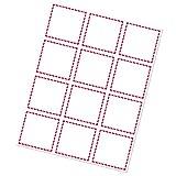 GHS/HazCom 2012: GHS Red Border 12-up Supplier Label, 2.83'' x 2.75'' (Pack of 100)