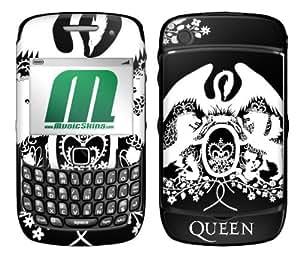 MusicSkins, MS-QUEN20044, Queen - Crest White, BlackBerry Curve (8520/8530), Skin