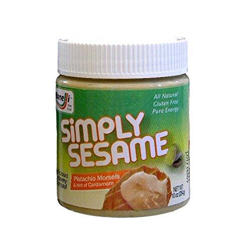 Simply Sesame Pistachio morsels & hint of cardamom 10 oz. jar