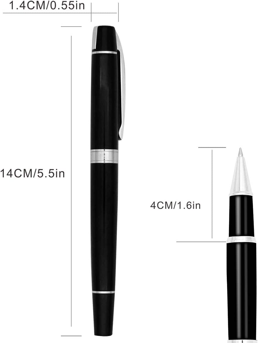 Black Ink,Blue Ink 0.5mm Set of 10 PCS Replacing the refills in most ballpoint pens on the market LEYICA Refills Fit Rollerball Pen,Roller pen