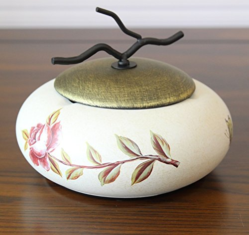 TLMY American Ceramic Ashtray European Retro with Lid Ashtray Coffee Table Decoration Craft Furnishings Creative Ornaments Ashtray (Color : F)