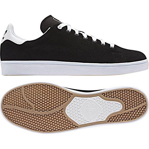 adidas Stan Smith Vulc, Zapatillas de Skateboarding Unisex Adulto Negro (Negbas/Negbas/Ftwbla)
