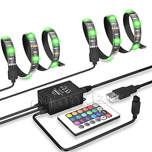 etopxizu led tv backlighting 2x20inch 5050 rgb usb led. Black Bedroom Furniture Sets. Home Design Ideas