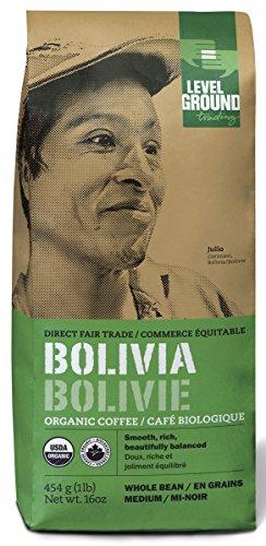 Bolivian Certified Organic Fair Trade Medium Roast Coffee Beans 1 lb 454 g