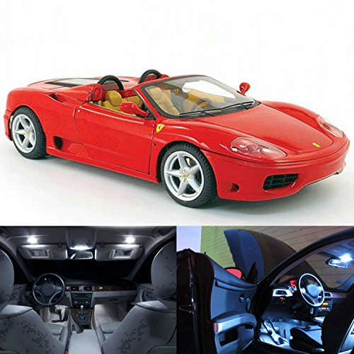 White LED Lights Interior Exterior Package Kit For Ferrari 360 Modena Spider 9pc (Ferrari Spider 360 Modena)