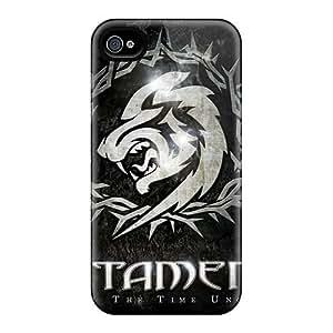 Iphone 4/4s PHZ5690mVEh Customized HD Catamenia Band Skin Durable Hard Cell-phone Case -MansourMurray