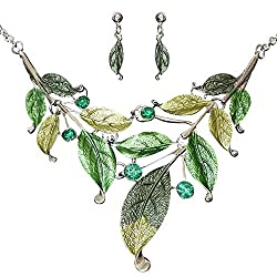 Leafs Shape Vintage Collar Pendant Necklace Sets