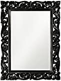 Large Bathroom Mirror with Black Frame Howard Elliott 2113BL Chateau Mirror, Black