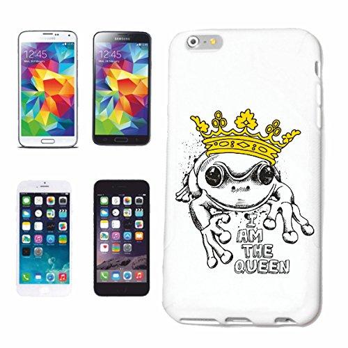 """cas de téléphone iPhone 7 """"JE SUIS LA REINE Lifestyle Mode STREETWEAR HIPHOP SALSA LEGENDARY"""" Hard Case Cover Téléphone Covers Smart Cover pour Apple iPhone en blanc"""