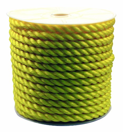- Rope King TP-34200Y Twisted Poly Rope - Yellow - 3/4 inch x 200 feet
