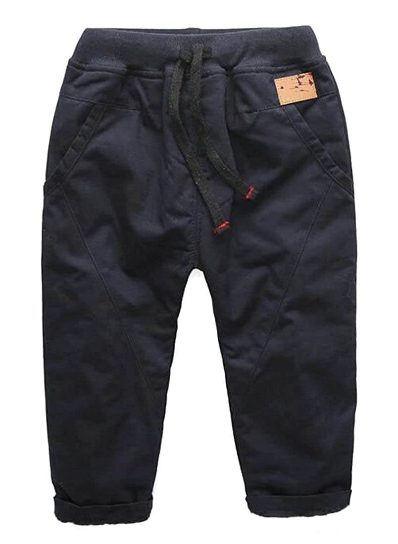 Etecredpow Little Boys Casual Toddler Pull-On Soft Cuffed Comfort Summer Pants Dark Blue 3T
