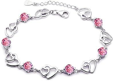 bracelet femme argent rose
