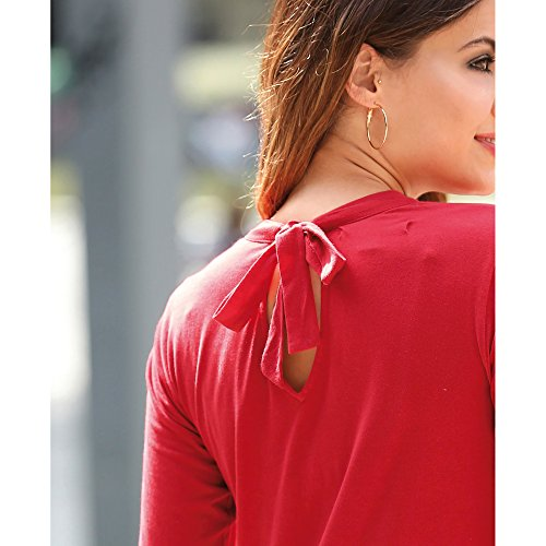 5ffd6f59df VENCA Camiseta Escote v con Tiras Para anudar EN La Nuca by Vencastyle