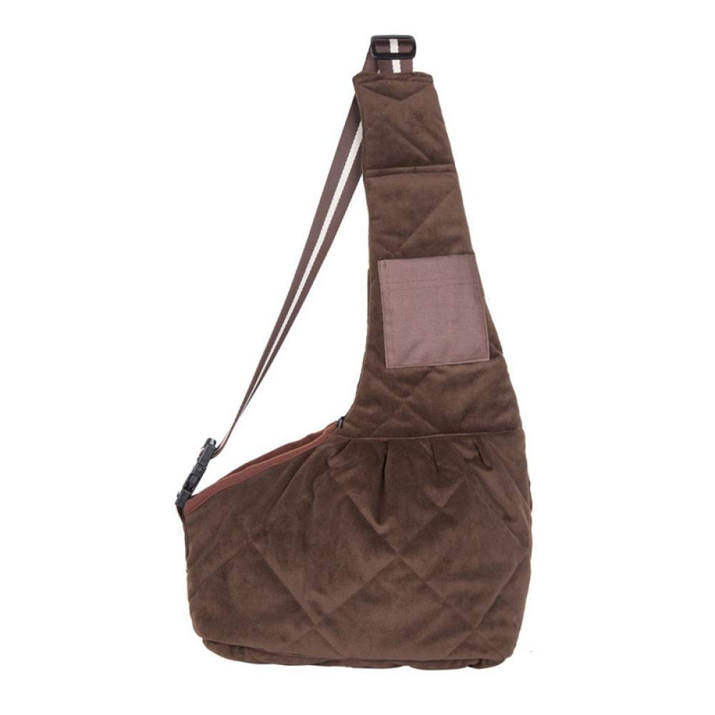 Brown SZIOFV Package Pet Carrier Backpack Oxford Dog Cat Slings Bags for Small Dog Outdoors Traveling Pet Handbags
