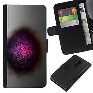 All Phone Most Case / Oferta Especial Cáscara Funda de cuero Monedero Cubierta de proteccion Caso / Wallet Case for LG G2 D800 // Abstract Hole Dimension Pink