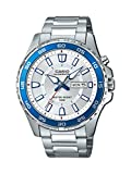 Casio Men's 'Super Illuminator' Quartz Stainless Steel Casual Watch, Color:Silver-Toned (Model: MTD-110D-7AVCF)