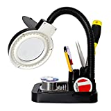 Heaven Tvcz Lamp Magnifying Black With 40 LED Lights Crafts Glass Desk With 5 X 10X Magnifier New