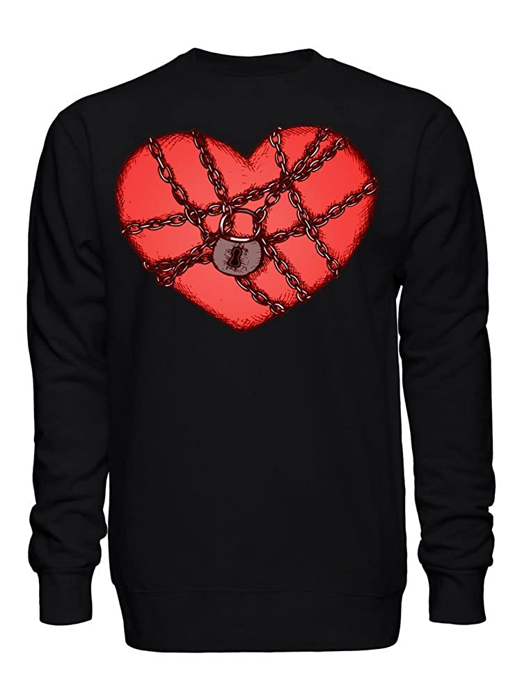 graphke Locked Heart Unisex Crew Neck Sweatshirt