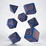 Q-Workshop Wizard Dark-Blue & Orange Dice Set