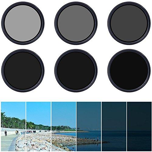 XCSOURCE Einstellbare 67mm Fader ND-Filter Neutrale Dichte ND2 ND4 ND16 a ND400 für DSLR-Kamera-Objektiv, mit Stoff und Leinwand LF306