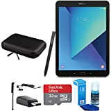 Samsung Galaxy Tab S3 9.7 Inch Tablet with S Pen - Black - 32GB Accessory Bundle includes 32GB MicroSDHC Memory Card, Case for Tablets, Stylus, USB-C Adapter, Screen Cleaner and Earbuds