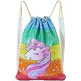 Basumee Unicorn Mermaid Sequin Bag Gym Bags...