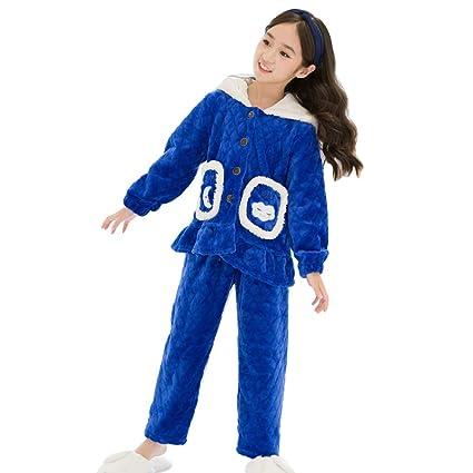 44f4cb4d69 Girls Fall Winter Pajama Set Girls Flannel Pajamas Women's Pajamas Warm  Winter Pajamas (Color : Blue, Size : 165cm): Amazon.ca: Home & Kitchen