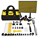 Mookis Paintless Dent Repair, 37PCS Car Repair Kit PDR Tools, Slider Hammer Lifter with Bridge Puller Set, Glue Stricks, Pro Pulling Tabs Kit