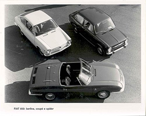 Fiat 850 Spider (1966 Fiat 850 Spider Coupe Berlina Factory Photo)
