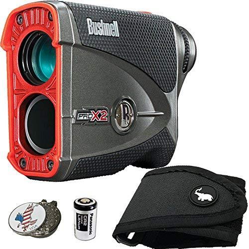 Bushnell BUNDLE Pro X2 Golf Laser Rangefinder 1 STICKIT Magnetic Golf Rangefinder