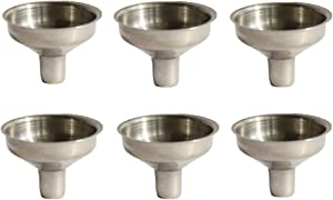 yueton Pack of 6 Stainless Steel Mini Funnel for Essential Oil Bottle, Flasks