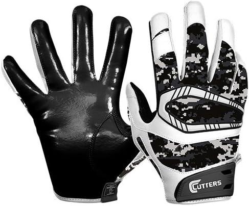 Cutters Rev Pro受信機手袋、ユース、大人用 ブラック/カモ XL