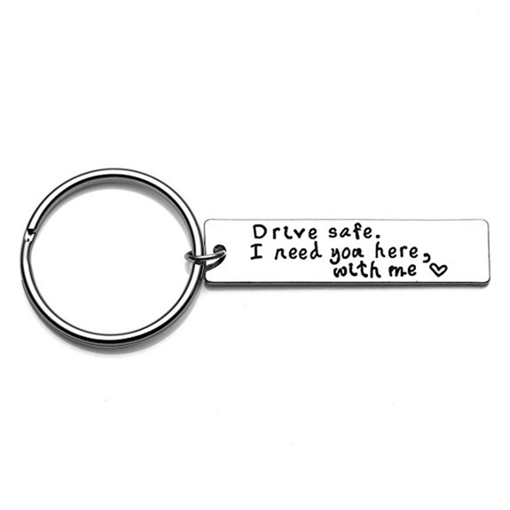 Dolland Drive Safe Keychain I Need You Here with Me Trucker Husband Gift for Husband Dad Gift Valentines Day Stocking Stuffer