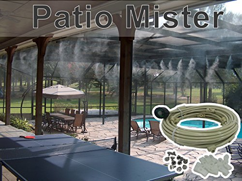 Patio Misting System - For Backyard, Patio, Gazebos, Pool and Play ares - With Brass/Stainless Steel Nozzles - Do it Yourself Misting System - Easy to Expand (Expand System)