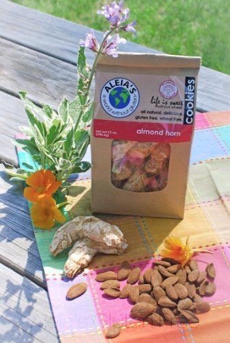 Aleia's Gluten Free Almond Horn Cookies 9oz (Pack of 3)