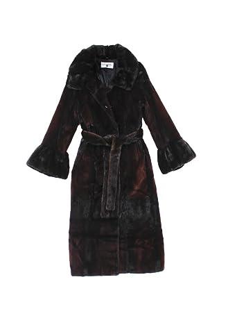 79758081f 511113 New Brown Semi Sheared Mink Fur Full Length Coat Stroller ...