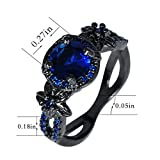 Bamos-Jewelry-Black-Gold-Blue-Sapphire-Diamonds-Best-Friend-Wedding-Christmas-Gift-Womens-Ring-Size-6-10