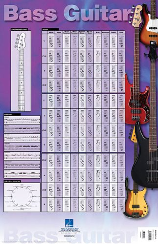 Bass Guitar Poster: 23 inch. x 35 inch. Poster