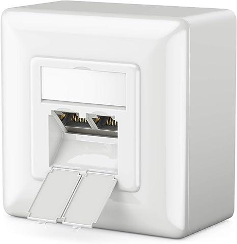 deleyCON 1x Cat 6 Universal Socket de Red: Amazon.es: Electrónica