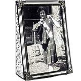 J Devlin Pic 360-46V Vintage Glass Picture Frame Tabletop 4 x 6 Vertical Photo Frame Keepsake Gift