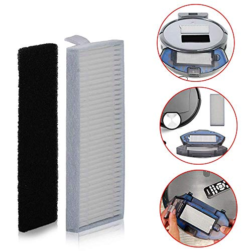 HIFROM Replacement Sponges Filter Side Main Brush with for Ecovacs N79 Deebot N79S Cleaner