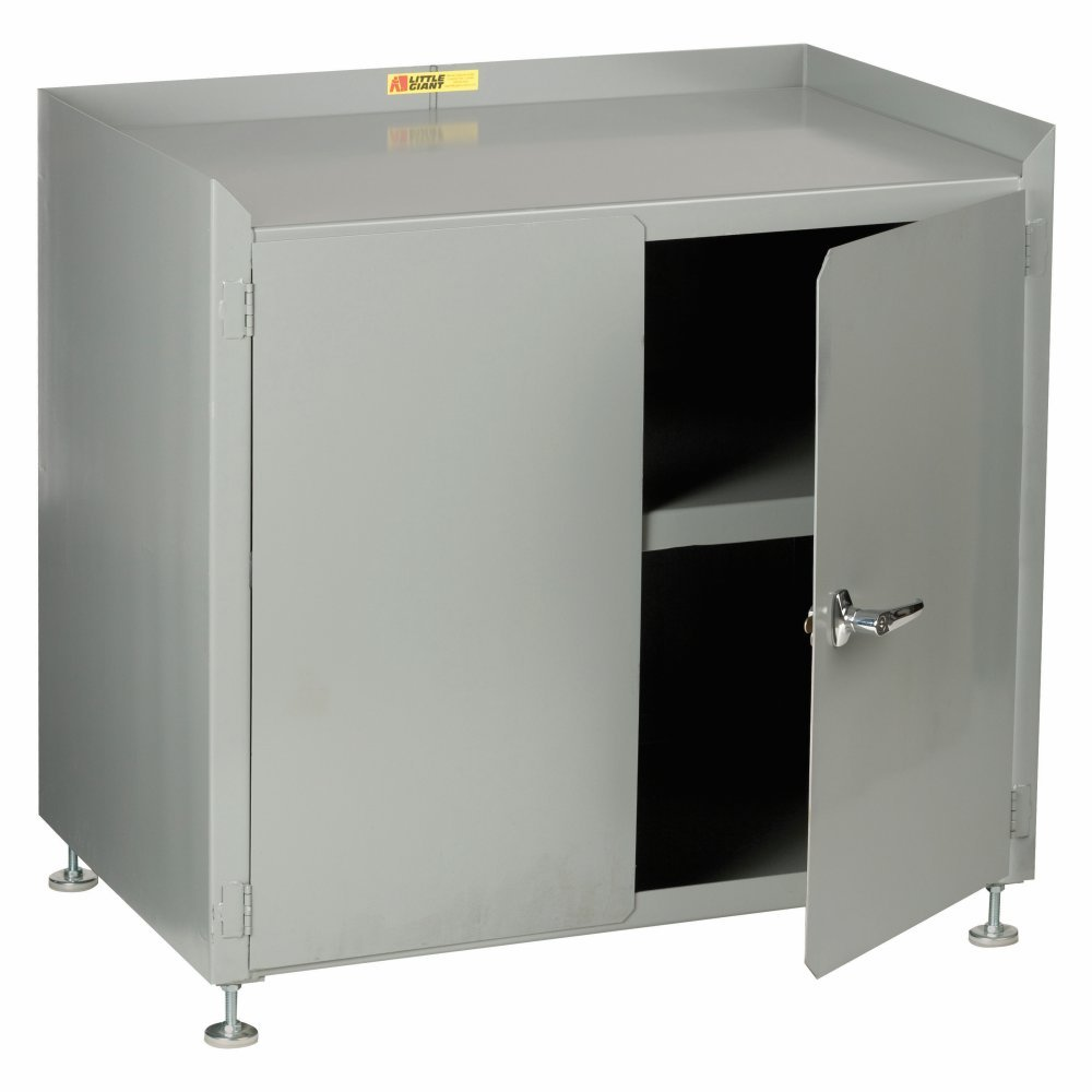 LITTLE GIANT All-Welded Shop Cabinet - 36X24x33-36 - Gray