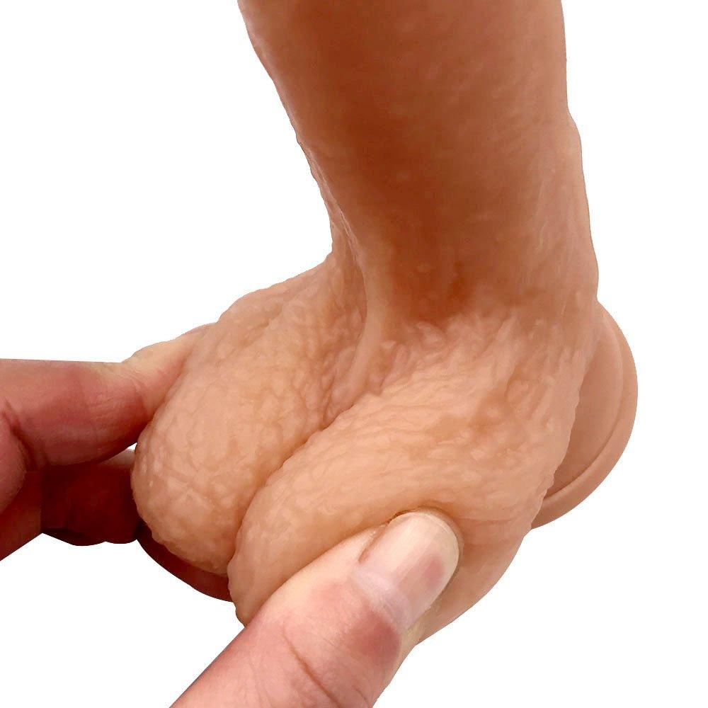 20.5 cm con Consolador Enorme - Real de Hombres Dong Pene con cm Ventosa y Testículos,Flesh 0fd17e