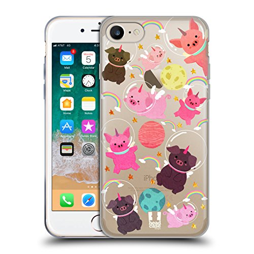 - Head Case Designs Pig Space Unicorns Soft Gel Case for iPhone 7 / iPhone 8