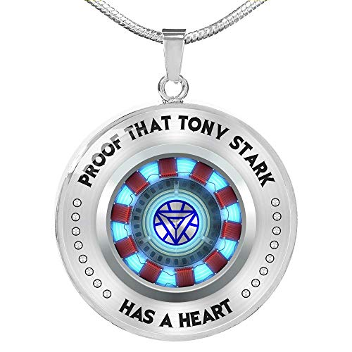 Fa Gifts Iron Man Arc Reactor, Iron Man Necklace, Iron Man, Proof That Tony Stark Has A Heart Circle Necklace for Men & Women - Luxury Necklace Silver - Includes Gift Box! (Iron Man Magnetic Floating Toy For Sale)
