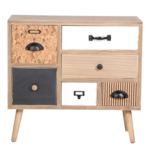 Wooden Storage Cabinet Handmade With Unique Drawers, Large Space by VIVA HOME