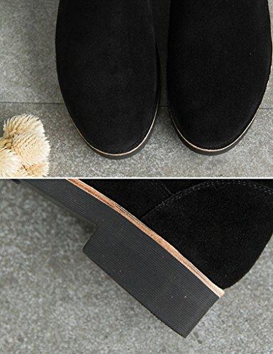 et Couleur Taille de Noir Noir Étudiant Plates Courtes Bottes Bottes Sauvages Neige Coton Plates Neige Bottes à en Boots 37 Bottes Raquettes fdTfqA