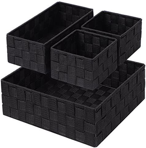 Posprica - Caja de almacenamiento tejida con compartimentos para cajones, armarios, estantes y aparadores: Amazon.es: Hogar