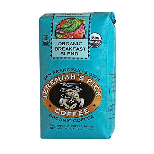 Jeremiah's Pick Coffee Organic Breakfast Blend, Dark Roast Whole Bean Coffee, 10-Ounce Bags (Pack of 3) by Jeremiah's Pick Coffee Co.